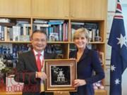 Vietnam et Australie s'efforcent de porter leurs relations à une nouvelle hauteur