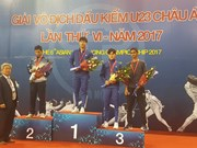 Ouverture des 6es Championnats d'escrime d'Asie U23 à Hanoï