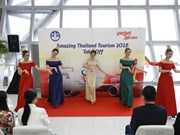 """Vietjet Thaïlande lance son nouvel avion portant le logo """"The Amazing Thailand Tourism Year 2018"""""""