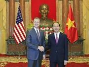 Le président Tran Dai Quang reçoit les nouveaux ambassadeurs nigérian, grec et américain