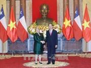 Le président Tran Dai Quang reçoit la présidente du Chili Michelle Bachelet