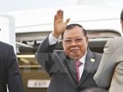 Le président Trân Dai Quang reçoit le président laotien Bounnhang Vorachith