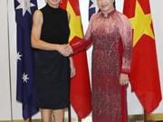La présidente de l'AN Nguyen Thi Kim Ngan rencontre la ministre australienne des AE