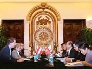 Vietnam - Autriche : volonté commune de promouvoir la coopération bilatérale