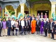 Visite d'une délégation du ministère cambodgien des Rites et de la Religion à Soc Trang