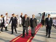 Bounnhang Vorachith est arrivé à Hanoï, entamant sa visite officielle d'amitié au Vietnam