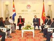 Renforcer l'amitié traditionnelle entre le Vietnam et Cuba