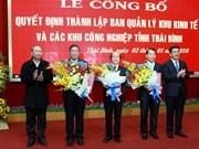 Publication de la création de la zone économique de Thai Binh