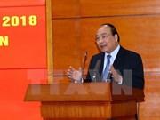 Le Premier ministre fixe l'objectif de croissance à 6,7% en 2018