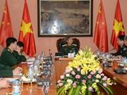 Une délégation de jeunes officiers chinois en visite au Vietnam