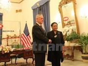 Le secrétaire d'Etat américain à la Défense rencontre le ministre indonésien des AE