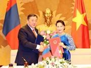 Le président de l'Assemblée nationale Miyegombo Enkhbold termine sa visite au Vietnam