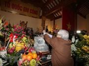 Le secrétaire général Nguyen Phu Trong rend hommage à l'ancien dirigeant Nguyen Duc Canh