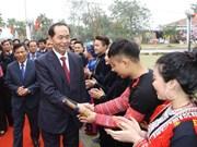 Le président lance une fête printanière au Village de la culture ethnique