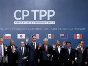 Des images de la cérémonie de signature du CPTPP au Chili