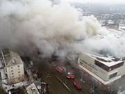 Incendie dans un centre commercial à Kemerovo : message de sympathie du Vietnam