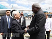 Le secrétaire général Nguyên Phu Trong entame sa visite d'Etat à Cuba