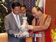 GMS-6 et CLV-10 : le PM Nguyen Xuan Phuc reçoit le vice-président birman
