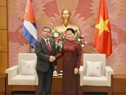 La présidente de l'AN reçoit le président de l'Institut cubain d'Amitié avec les peuples