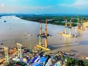 Raccordement du pont de Bach Dang reliant Quang Ninh à Hai Phong