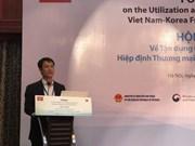 Saisir les opportunités offertes par l'accord de libre-échange Vietnam-R.de Corée