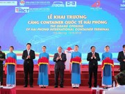 Inauguration du port international de conteneurs de Hai Phong