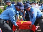 Dak Lak : Inhumation des restes de soldats tombés au Cambodge