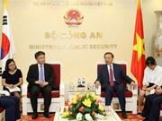 Vietnam et R. de Corée renforcent la coopération dans la lutte contre la criminalité