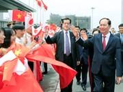 Le président Tran Dai Quang en visite d'Etat au Japon