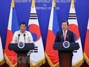 La R.de Corée et les Philippines s'accordent pour resserrer la coopération bilatérale