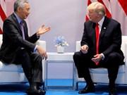 Sommet USA-RPDC: le président américain rencontre le PM singapourien