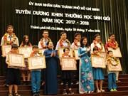 Hô Chi Minh-Ville met à l'honneur 778 élèves exemplaires