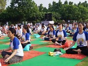 La quatrième journée internationale du yoga célébrée à Can Tho