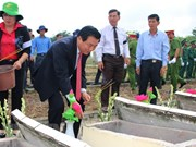 Long An : inhumation des restes de soldats tombés au Cambodge