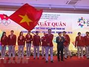 Cérémonie de départ de la délégation vietnamienne aux ASIAD 2018 en Indonésie