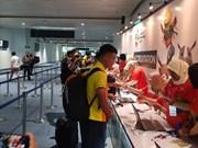 ASIAD 2018 : l'équipe du Vietnam olympique de football est arrivée en Indonésie