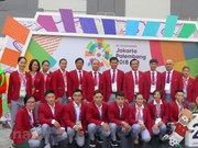 Cérémonie de lever du drapeau du Vietnam aux ASIAD 18