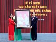 Célébration solennelle du 130e anniversaire du président Tôn Duc Thang
