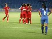 Football féminin: le Vietnam se qualifie pour les quarts de finale des ASIAD 2018