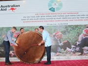 Aide australienne pour promouvoir l'égalité des sexes via l'agriculture et le tourisme à Lao Cai