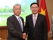 Le vice-PM Vuong Dinh Hue reçoit un dirigeant du groupe japonais Mitsubishi