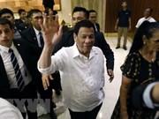 Le président philippin Rodrigo Duterte commence sa tournée en Proche-Orient
