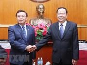 Vietnam-Laos : promotion de la coopération entre les Fronts