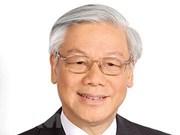 Le secrétaire général du PCV Nguyen Phu Trong part pour la Russie
