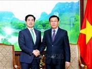 Le vice-PM Vuong Dinh Hue exprime son soutien à l'expansion du groupe Lotte