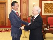 Des dirigeants reçoivent le président indonésien Joko Widodo