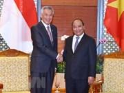 WEF ASEAN 2018: le PM Nguyen Xuan Phuc reçoit son homologue singapourien