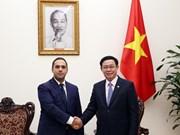 Le vice-PM Vuong Dinh Huê reçoit le ministre bulgare de l'Economie