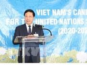 Mobilisation des pays pour soutenir la candidature du Vietnam au Conseil de sécurité de l'ONU