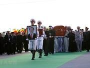 La population de Ninh Binh accueille le cercueil du président Tran Dai Quang